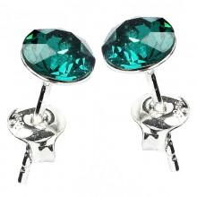 Cercei din argint cu Swarovski Elements Emerald Foiled