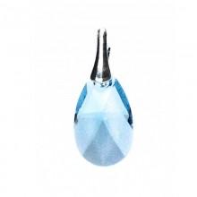 Medalion din argint cu cristale Swarovski Aquamarine pear