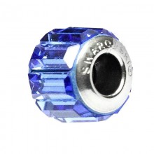 Talisman Swarovski Crystal Sapphire 12 (Swarovski Elements Becharmed Pave) pentru bratarile pandora