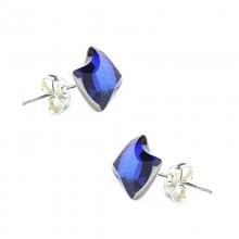 Cercei din argint cu Swarovski Elements Bermuda blue