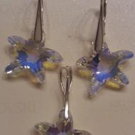 Set cercei si medalion din argint cu cristale Swarovski Crystal Aurore Boreale