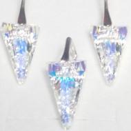 Set cercei si medalion din argint cu cristale Swarovski Crystal Aurore Boreale spike