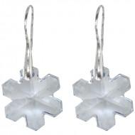 Cercei din argint cu cristale Swarovski Crystal blue shade 20