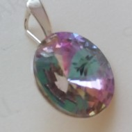 Medalion din argint cu cristale Swarovski Crystal Vitrail Light rivoli 14