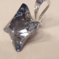Medalion din argint cu cristale Swarovski Blue Shade Foiled twister