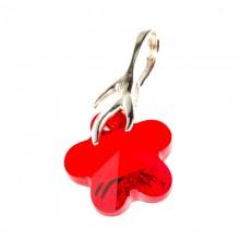 Medalion din argint cu cristale Swarovski Light Siam flower