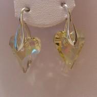 Cercei din argint cu cristale Swarovski Luminous Green