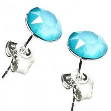 Cercei din argint cu Swarovski Elements Crystal Summer Blue Unfoiled