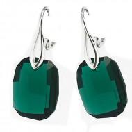 Cercei  din argint cu Swarovski Elements Emerald