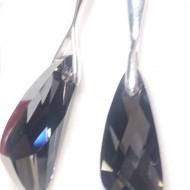 Cercei din argint cu cristale Swarovski Crystal Silver Night wing
