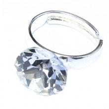 Inel reglabil din argint cu cristal Swarovski Crystal Foiled