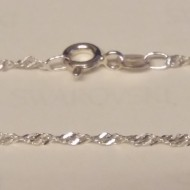 Lantisor din argint singapore 1,5 mm, 42 cm lungime