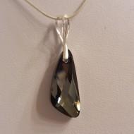 Medalion din argint cu cristale Swarovski Crystal Silver Night wing