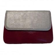 Poşeta din piele naturală Tonia Silver &Shine Red