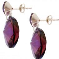 Cercei din argint 925 cu Swarovski Elements Crystal Lilac Shadow by Antony Fashion