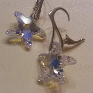 Cercei  din argint cu cristale Swarovski Crystal Aurore Boreale