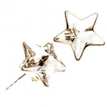 Cercei din argint si Swarovski Elements Crystal star (steluta)