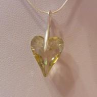 Medalion din argint cu cristale Swarovski Luminous Green