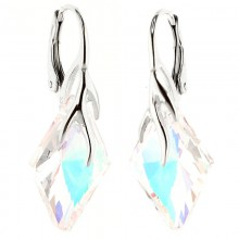 Cercei din argint cu cristale Swarovski Crystal Aurore Boreale romb