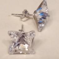 Cercei din argint cu cristale Swarovski Crystal Foiled twister