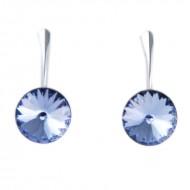 Cercei din argint cu cristale Swarovski Provence Lavender Foiled rivoli 12