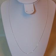 Lantisor din argint cu bilute 1 mm, 50 cm lungime