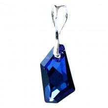 Medalion din argint cu Swarovski Elementgs Bermuda Blue 19