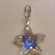 Medalion din argint cu cristale Swarovski Crystal Aurore Boreale