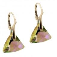 Cercei din argint cu cristale Swarovski Paradise Shine triangle