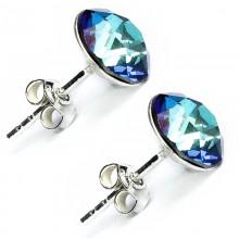 Cercei din argint cu Swarovski ElementsBermuda BlueFoiled