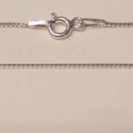 Lantisor din argint box twisted 0,9 mm, 55 cm lungime
