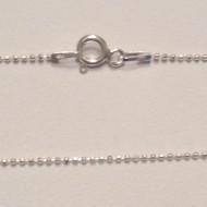 Lantisor din argint cu bilute 1 mm, 60 cm lungime