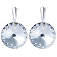 Cercei din argint cu cristale Swarovski Crystal Foiled rivoli 14