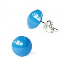 Cercei din argint cu Swarovski ElementsLight Blue Pearl