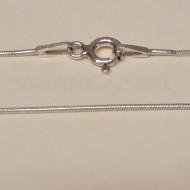Lantisor din argint snake 0,7 mm, 55 cm lungime