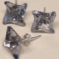 Set cercei si medalion din argint cu cristale Swarovski Blue Shade Foiled twister