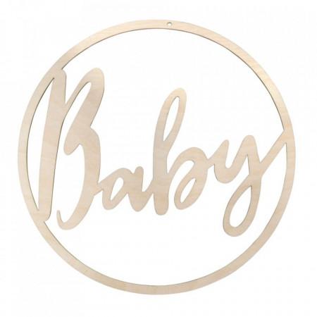 "Coronita din lemn ""baby"", 30cm ø"