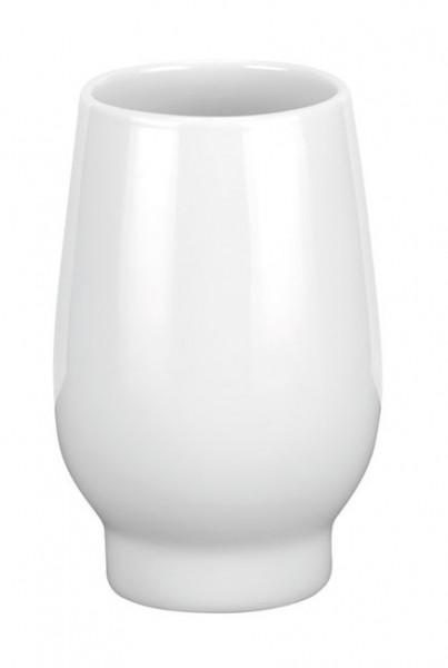 Pahar de baie din ceramica, alb