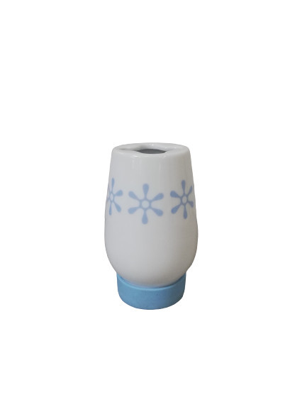 Suport periute dinti ceramica, alb/albastru