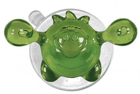 Carlig cu ventuza din plastic crazy hooks, verde/transparent