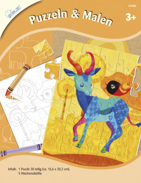 Set creativ puzzle si pictura