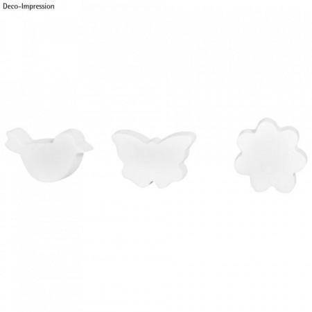 Matrita de turnare: pasare, fluture, floare