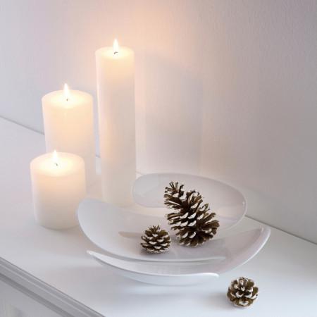 Platou decorativ servire alb EVE