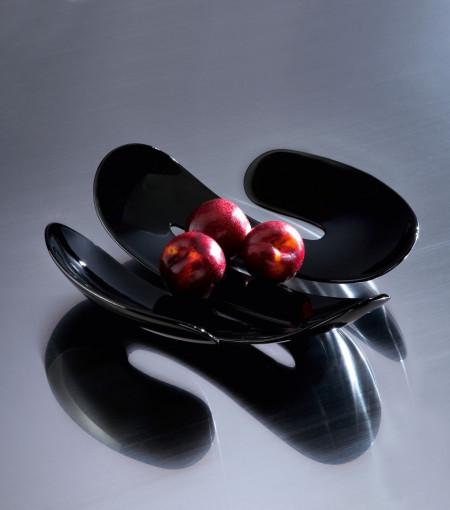 Platou decorativ servire negru, EVE