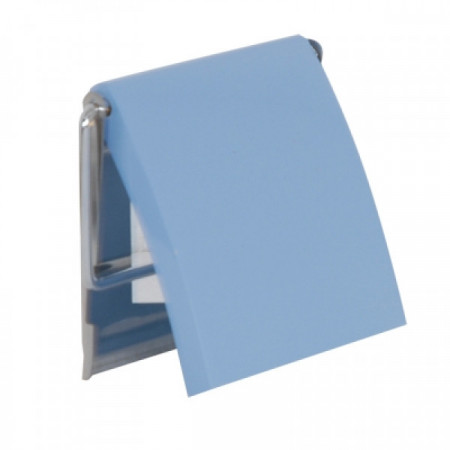 Suport hartie igienica, MDF, albastru
