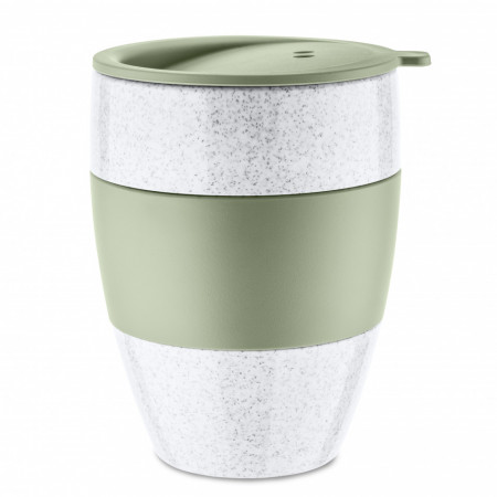 Cana cafea alb cu verde 0.4 L, AROMA TO GO 2