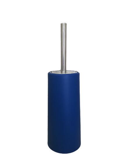 Perie wc cu suport albastru, 10x22 cm