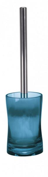 Perie wc cu suport plastic, albastru