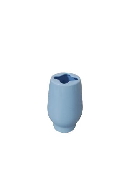 Suport periute de dinti din ceramica, albastru