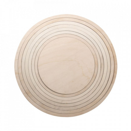 Kit inele din lemn cu placa, 60cm ø